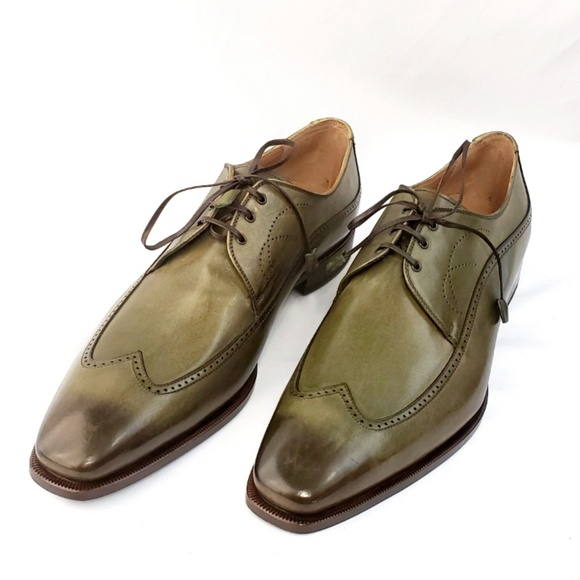 9da333fc71e NWT Franceschetti Green Wingtip Oxford Shoes